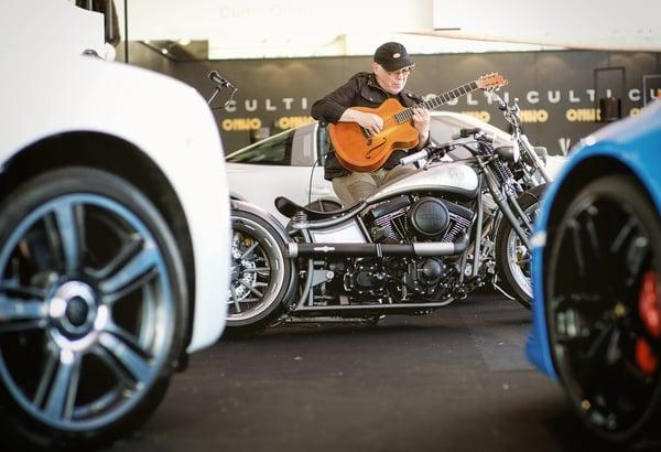Harley ausgestellt auf der Yacht & Lifestyle Bodensee Genussmesse
