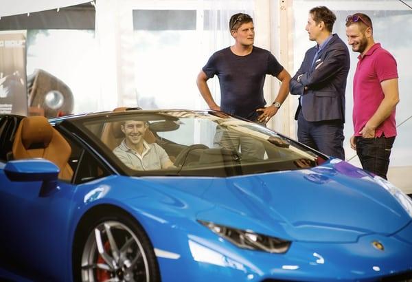 Lamborghini ausgestellt auf der Yacht & Lifestyle Bodensee Genussmesse