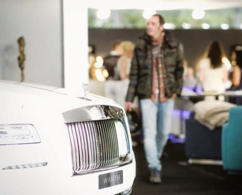 Rolls Royce ausgestellt an der Bar Yacht und Lifestyle Bodensee Genussmesse